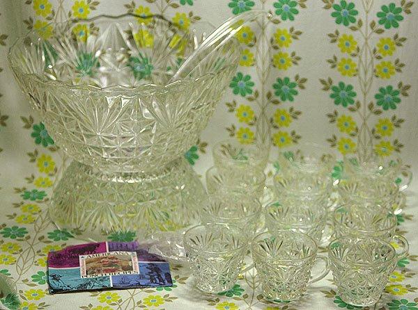 ビンテージ アンカーホッキング社製 プレスガラス 27ピース パンチセット