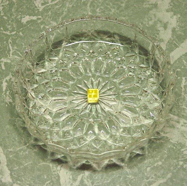 レトロ プレスガラス デザートプレート クリア