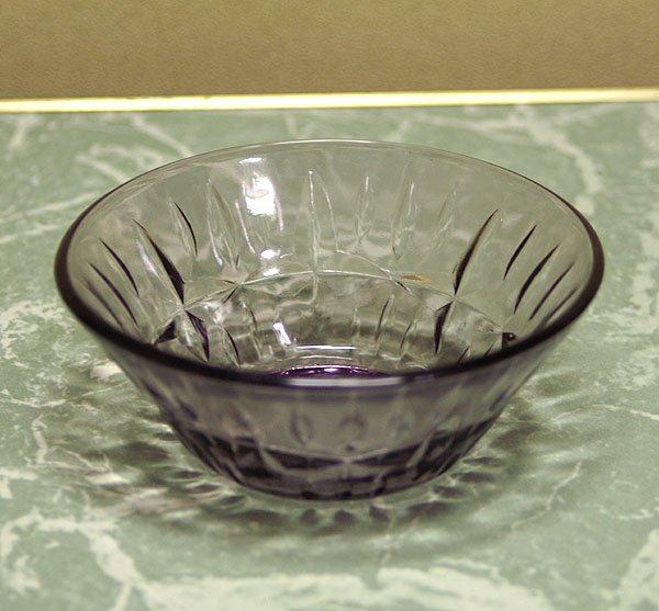 レトロ 紫 プレスガラス 小鉢