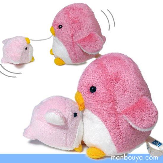 【ペンギングッズ】親子ペアぬいぐるみ◆A-SHOW◆ぶるぶるマリンマスコット◆ぺんぎんピンク10cm