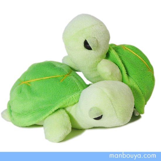 【カメのぬいぐるみ】ふわふわ手のひらサイズ◆A-SHOW(栄商)◆Little Beans(リトルビーンズ)◆亀13cm