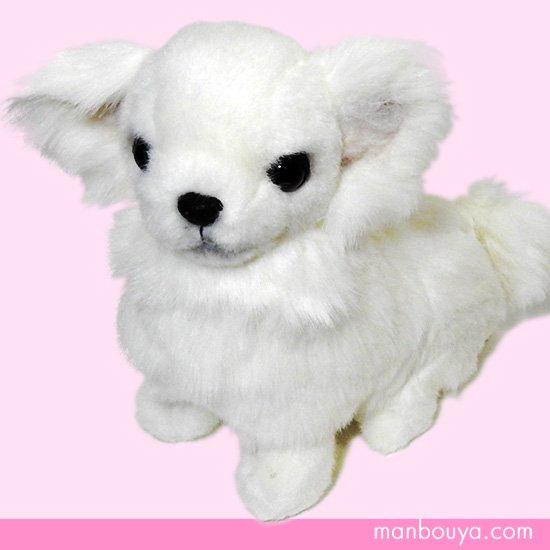 【犬のぬいぐるみ】チワワグッズ/雑貨◆A-SHOW(栄商)◆ロングコートチワワ座り◆ホワイト19cm