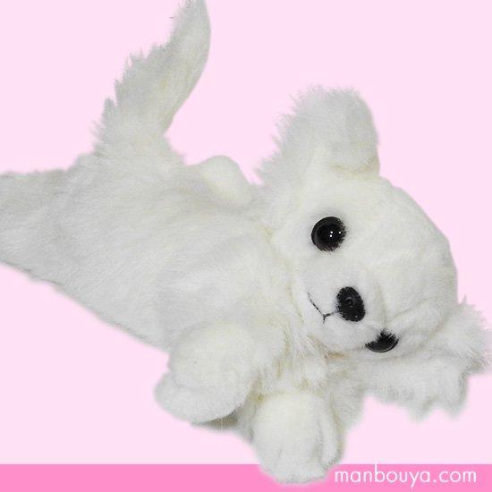 【犬のぬいぐるみ】チワワグッズ/雑貨◆A-SHOW(栄商)◆ロングコートチワワ伏せ(クタクタ)◆ホワイト25cm