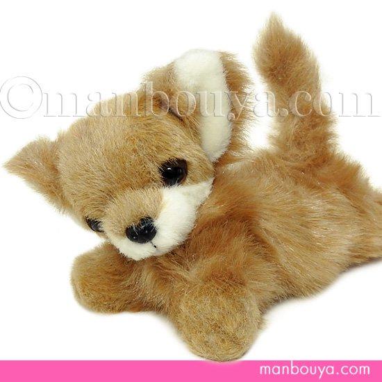 【犬のぬいぐるみ】チワワグッズ/雑貨◆A-SHOW(栄商)◆ロングコートチワワ伏せ(クタクタ)◆ブラウン23cm