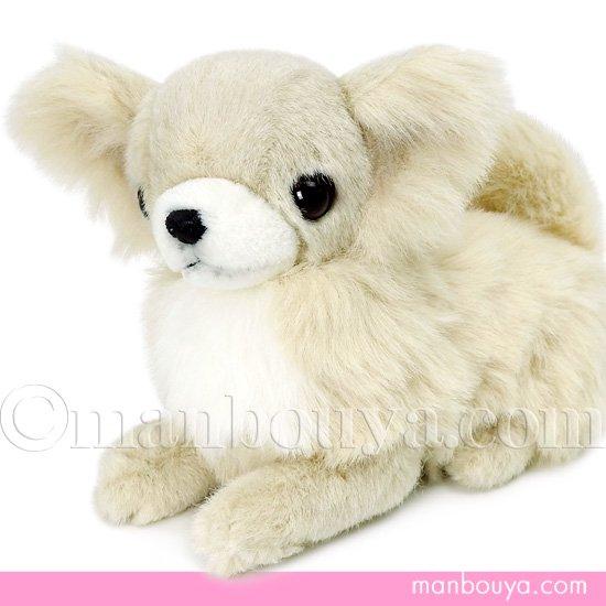 【犬のぬいぐるみ】チワワグッズ/雑貨◆A-SHOW(栄商)◆ロングコートチワワ伏せ型◆クリーム22cm