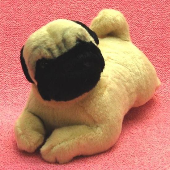 【犬のぬいぐるみ】パググッズ/雑貨◆A-SHOW(栄商)◆パグ伏せ型◆22cm