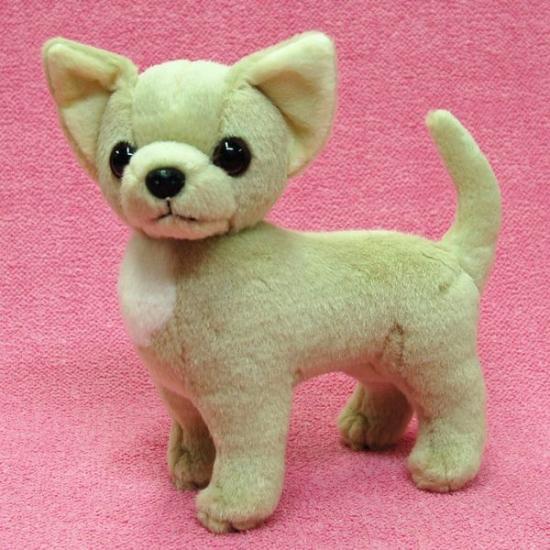 【犬のぬいぐるみ】チワワグッズ/雑貨◆A-SHOW(栄商)◆スムースコートチワワ◆クリーム19cm