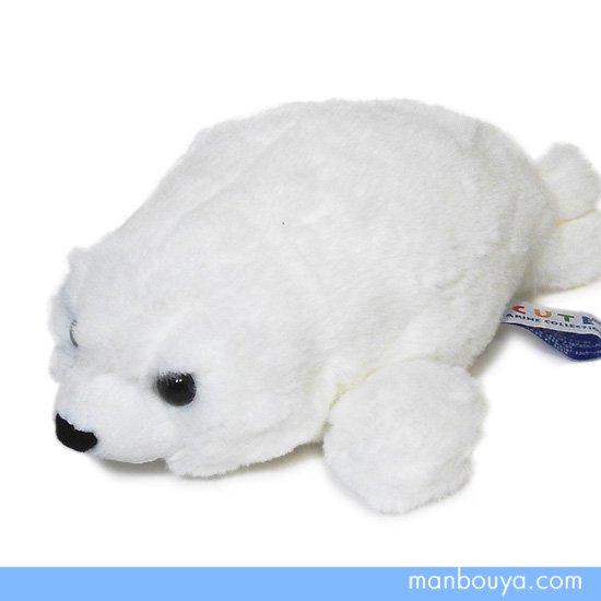 【アザラシのぬいぐるみ】キュート販売◆CUTE marine collection◆ふわふわあざらしホワイト Sサイズ25cm