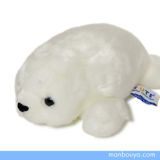 【アザラシのぬいぐるみ】キュート販売◆CUTE marine collection◆ベビーあざらしオフホワイト Sサイズ22cm