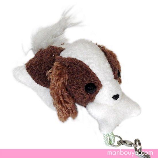 【犬のぬいぐるみ】グッズ・雑貨◆A-SHOW(栄商)◆ぱっくんクラブ携帯ストラップ◆キャバリア7.5cm