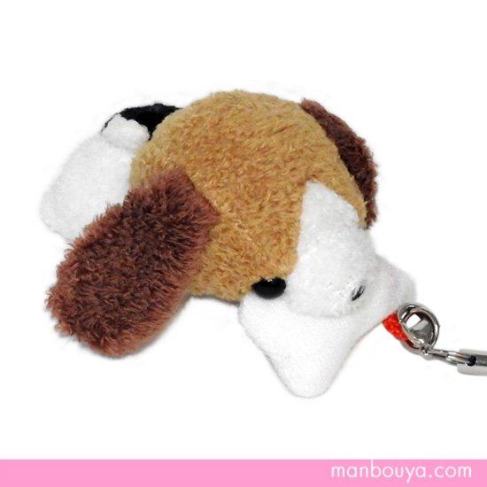 【犬のぬいぐるみ】グッズ・雑貨◆A-SHOW(栄商)◆ぱっくんクラブ携帯ストラップ◆ビーグル7cm