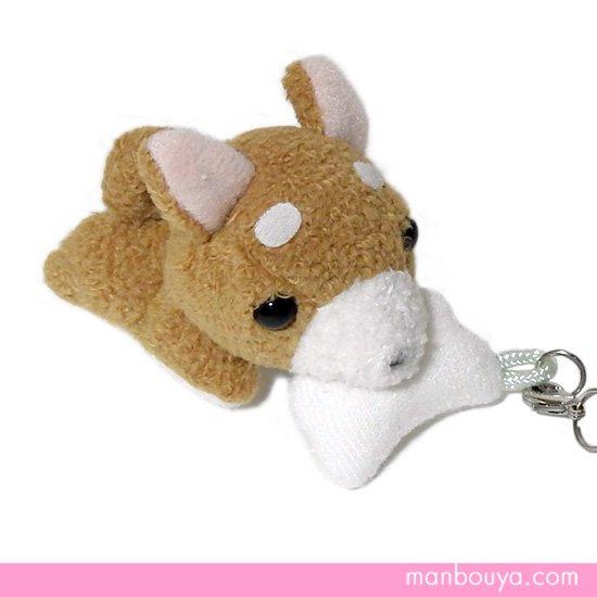 【犬のぬいぐるみ】グッズ・雑貨◆A-SHOW(栄商)◆ぱっくんクラブ携帯ストラップ◆豆柴6.5cm