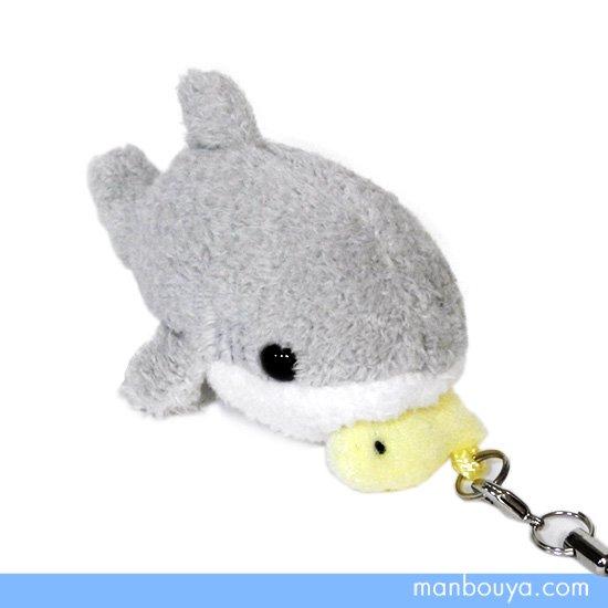 【サメのぬいぐるみ】鮫グッズ・雑貨◆A-SHOW(栄商)◆ぱっくんクラブ携帯ストラップ◆シャーク7cm