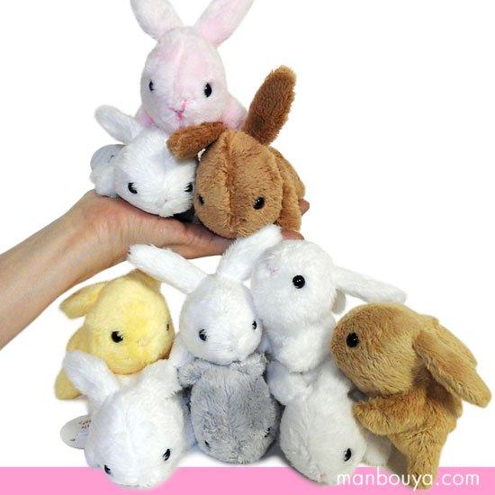 10%OFF うさぎのぬいぐるみ Little Beans ミニサイズ プレゼントに ウサギ 10個セット(カラー5個+ホワイト5個)