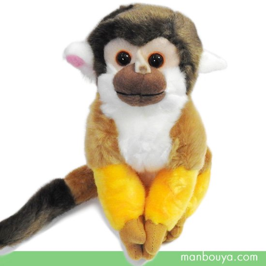 【動物園ぬいぐるみ】リスザル◆キュート販売◆CUTE safari collection◆リスザル M 18cm