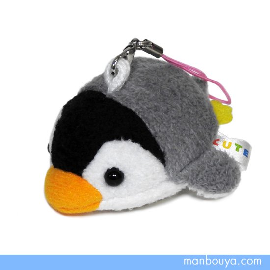 ぬいぐるみ ペンギン スマホ 携帯 液晶クリーナー ストラップ マスコット キュート販売 CUTE ベビーペンギン 7cm