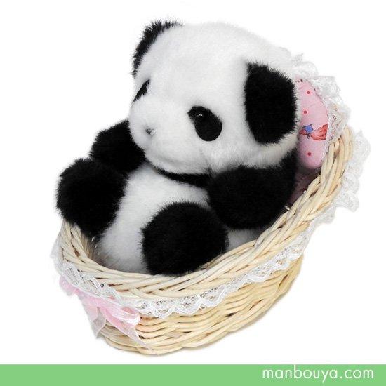 パンダ ぬいぐるみ 小さい 赤ちゃんパンダ たけのこ(TAKENOKO)ベビーパンダ カゴ入り 10cm