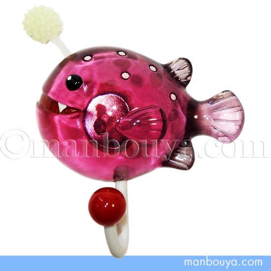 深海魚 グッズ 輪ゴムかけ かわいい マグネット フック 水族館 おもちゃ チョウチンアンコウ