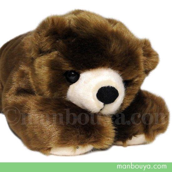 クマ ぬいぐるみ かわいい 寝そべりタイプ キュート販売 CUTE forest angel 森のクマさん 這いM 38cm