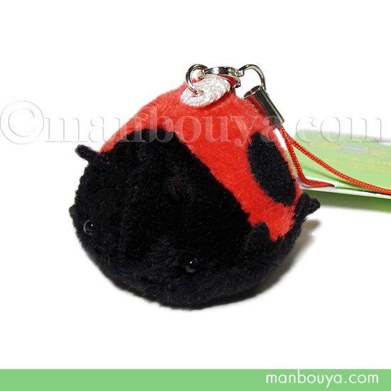 テントウムシ ぬいぐるみ 昆虫 グッズ 雑貨 A-SHOW ムニュマム 携帯ストラップ てんとう虫 4cm