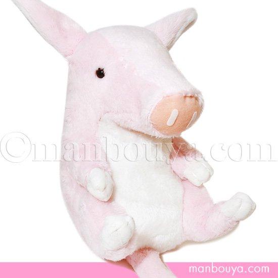 動物 ツチブタ ぬいぐるみ A-SHOW 栄商 Dimple 土豚 ピンク 17cm
