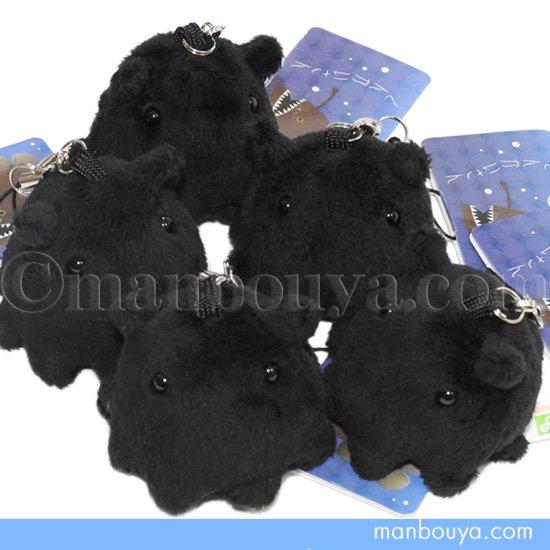 メンダコのぬいぐるみ 黒 A-SHOW(栄商)深海魚 シリーズ メンダコ 携帯ストラップ ブラック 4.5cm
