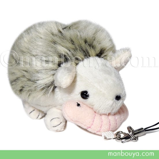 ハリネズミ ぬいぐるみ 携帯ストラップ 動物 A-SHOW はりねずみのチッピ ぶるぶるマスコット 10cm
