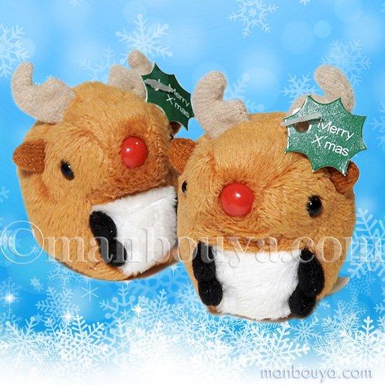 クリスマス トナカイ ぬいぐるみ グッズ ミニ 動物園 A-SHOW ムニュマムお手玉 トナカイ 5cm