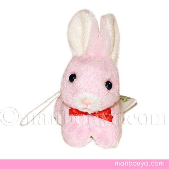 うさぎ ぬいぐるみ 携帯ストラップ たけのこ プチフォンテーヌ ウサギ ピンク 6.5cm
