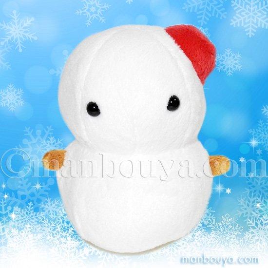 雪だるま ぬいぐるみ おもしろ雑貨 A-SHOW ムニュマム Mサイズ ゆきだるま 11cm