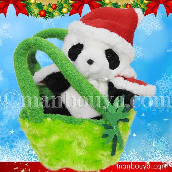 クリスマス ぬいぐるみ パンダ キュート販売 CUTE お出かけシリーズ パンダ サンタ衣装
