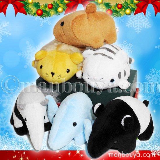クリスマス 動物 ぬいぐるみ セット A-SHOW ムニュマムM 動物6点 詰め合わせ
