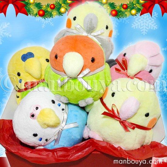クリスマス インコ ぬいぐるみ セット A-SHOW ムニュマムM 小鳥 6点 詰め合わせ