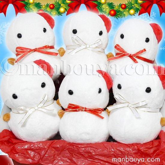 クリスマス 雪だるま ぬいぐるみ セット A-SHOW ムニュマムM ゆきだるまんじゅう