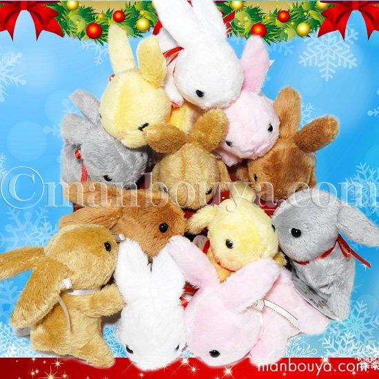 5%OFF うさぎのぬいぐるみ クリスマスプレゼント Little Beans ウサギ 6色 12個セット