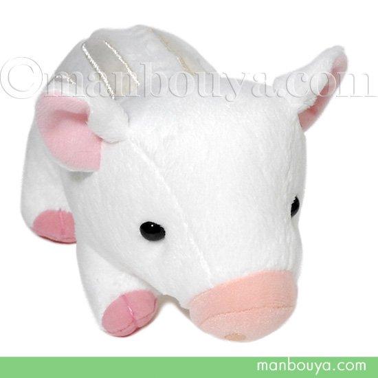 イノシシ うり坊 ぬいぐるみ 動物 A-SHOW 栄商 るんるんBaby いのしし ホワイト 17cm