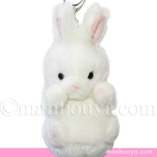 バッグチャーム うさぎ ぬいぐるみ たけのこ TAKENOKO プチプチどりーむ キーチェーン ウサギ ホワイト 14cm