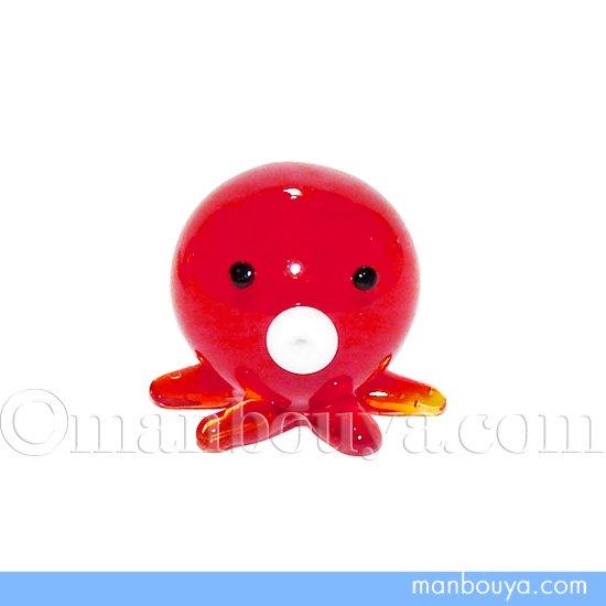 タコ ミニチュア ガラス細工 海の動物 水族館 コレクション フォーカート たこ丸