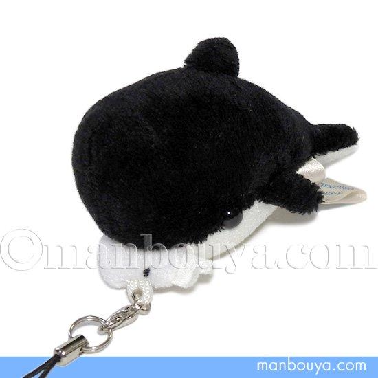 くじら ぬいぐるみ 携帯ストラップ A-SHOW 栄商 ぱっくんクラブ マッコウクジラ 7.5cm