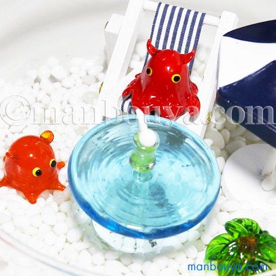 深海魚 ガラス細工 セット ミニチュア 置物 海の動物 水族館 グッズ マダムメンダコ