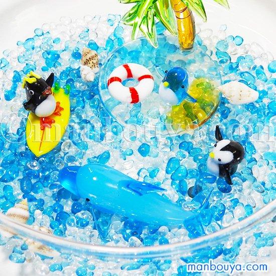 ミニチュア ガラス細工 セット 置物 海の動物 水族館 グッズ 夏の思い出 ペンギン イルカ