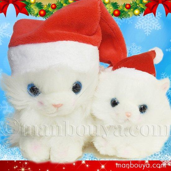 クリスマス ぬいぐるみ 猫 たけのこ TAKENOKO プチどりーむミニ &プチプチらんど ペルシャネコ サンタ帽子