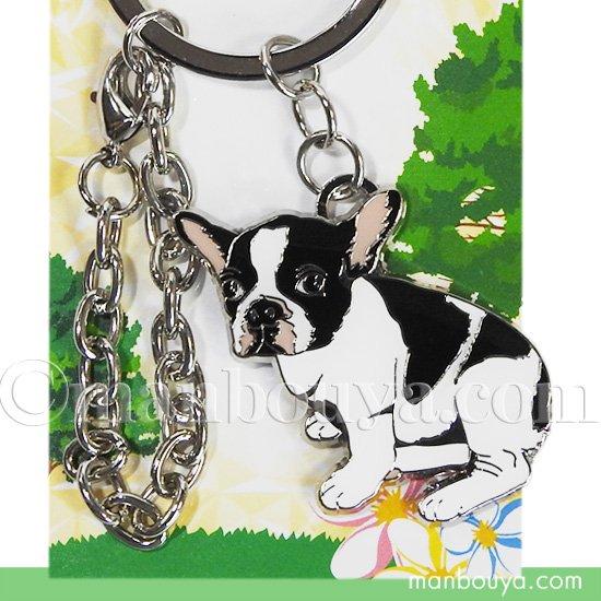 犬 キーホルダー 鍵 おしゃれ かなる アニマル フレンズ キーリング フレンチブルドッグ