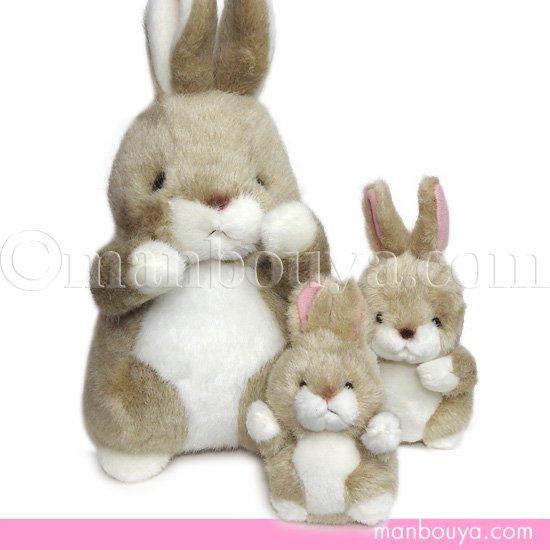 【5%OFF】うさぎ ぬいぐるみ たけのこ TAKENOKO 森のなかま ウサギ ベージュ 3サイズセット