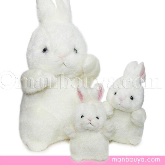 【5%OFF】うさぎ ぬいぐるみ たけのこ TAKENOKO 森のなかま ウサギ ホワイト 3サイズセット