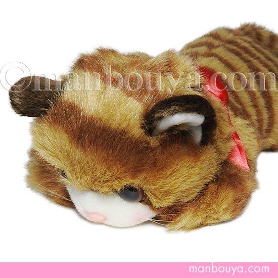 猫 ぬいぐるみ たけのこ TAKENOKO リボンネコ 茶 30cm