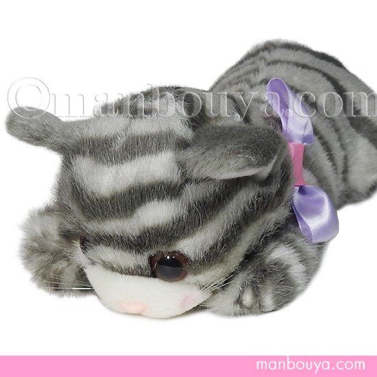 猫 ぬいぐるみ たけのこ TAKENOKO リボンネコ グレー 30cm