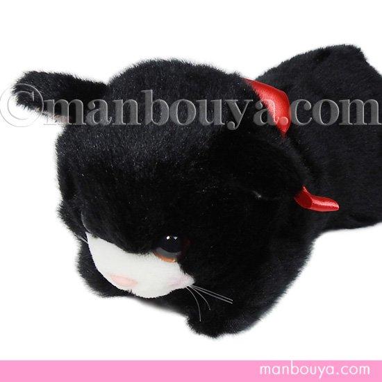 猫 ぬいぐるみ たけのこ TAKENOKO リボンネコ 黒ねこ 30cm