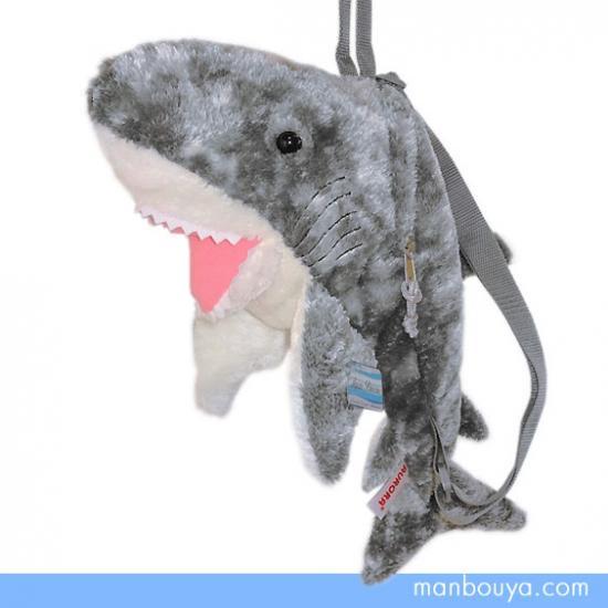 【サメ】リュック型ぬいぐるみ◆オーロラ(AURORA)アクアブリーズ◆ふわふわバックパック◆サメ◆50cm