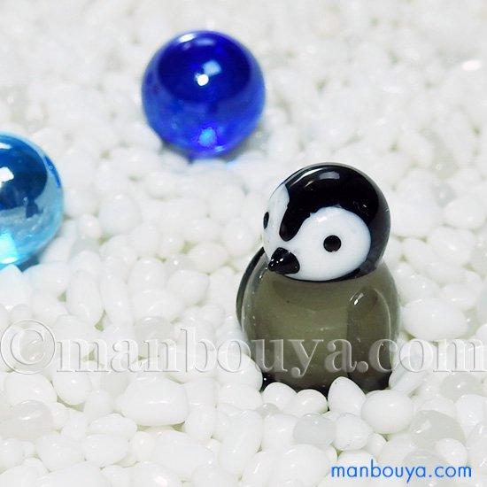 ペンギン グッズ ガラス細工 ミニチュア 雑貨 水族館 お土産 フォーカート 皇帝ペンギンヒナ
